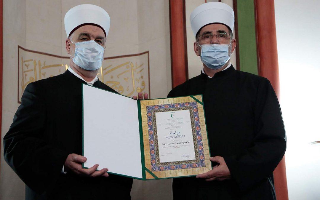 Banjaluka: Reisu-l-ulema muftiji banjalučkom Nusret-ef. Abdibegoviću uručio Muraselu